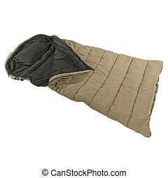 Sleeping bag isolated - Warm sleeping bag isolated on white...