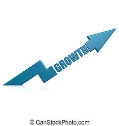 Growth arrow up blue