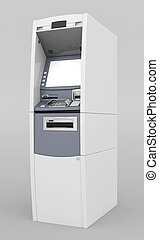 image of the new ATM on gray background