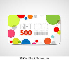 Modern gift card template