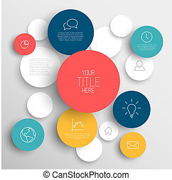 Vector abstract circles infographic template - Vector...