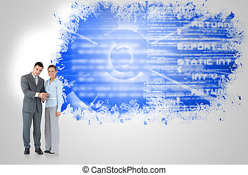Composite image of business partner