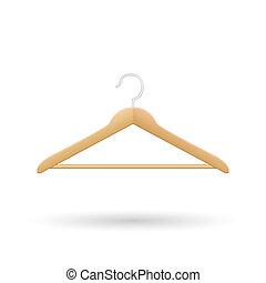 Wooden Hanger Illustration - Wooden hanger illustration...