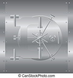 Bank safe vector illustration