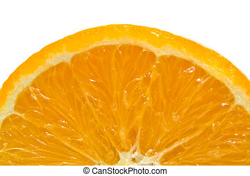 lobule of orange - background from the ripe and juicy cut of...