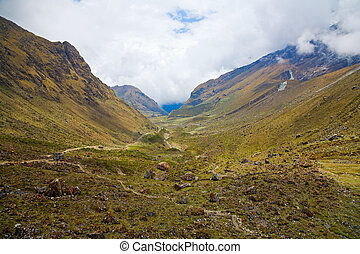 Trail in the Andes