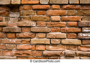 old bricking - time does not spare a stone even