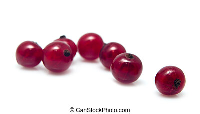 heap of juicy currant - red garden-stuffs of currant on a...