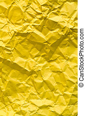 yellow paper - crushed old paper as texture