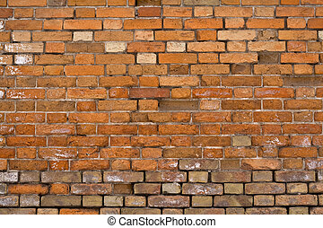 brick building - old red large brick wall
