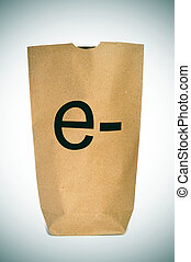 e-shopping or e-commerce - a shopping bag with the prefix e-...