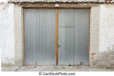 metal door garage access