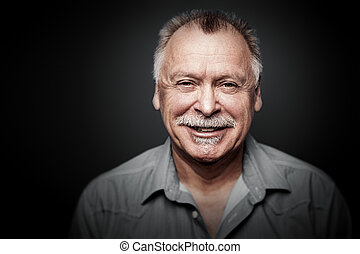 man with mustache - An image of a man with a mustache