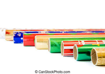 Wrapping paper - Rolls of colorful wrapping paper for...