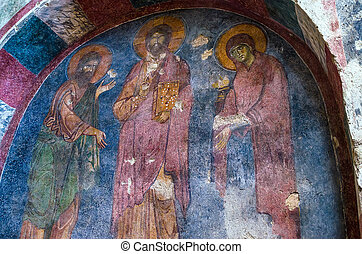 Fresco in the Church of St. Nicholas in Demre, Turkey