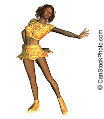 African American figure skater