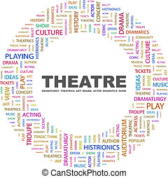 THEATRE Concept illustration Graphic tag collection...