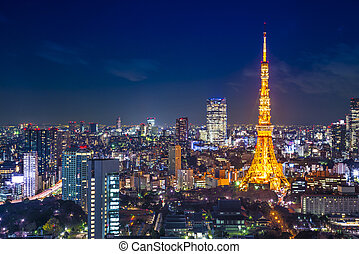 Tokyo Cityscape at Tokyo Tower - Tokyo, Japan cityscape...