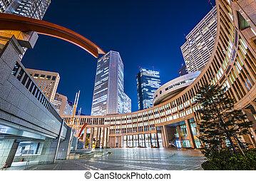 Tokyo at Asakusa - Tokyo, Japan cityscape in the Asakusa...