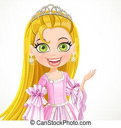 bello, poco, principessa, tiara, rosa, Palla, veste
