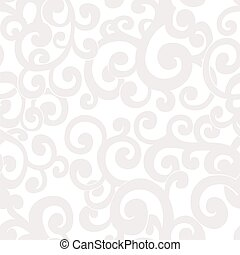 Seamless abstract background with swirls in white and cream colors