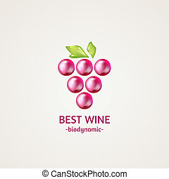 Colored glossy and shiny winery sphere icon. Vector...
