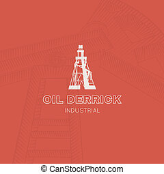 Oil rig icon Vector illustration