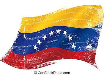 venezuelan flag - flag of Venezuela in the wind with a...