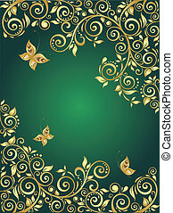 Ornate gold background