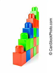 Building Blocks - Building blocks isolated against a white...