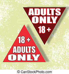 adults only background whit on vector illustration
