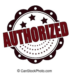authorized grunge stamp on whit vector illustration