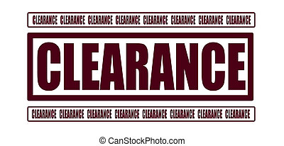 clearance grunge stamp whit on vector illustration