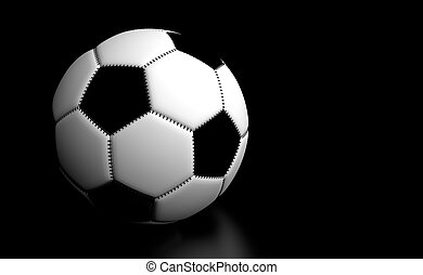 Soccer Ball Black Details - Soccer Ball with black...