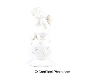 Angel - Candle holder in the shape of angel on white...