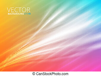 Abstract colorfull lighting background with waves
