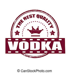 vodka grunge stamp whit on vector illustration