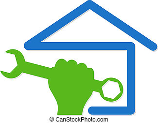 home repair symbol - symbol vector for home renovation, hand...