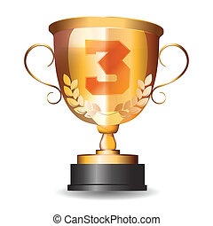 bronze cup for the third place