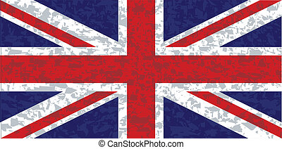 Grunge Union Jack Flag - The UK Union Jack flag with a heavy...