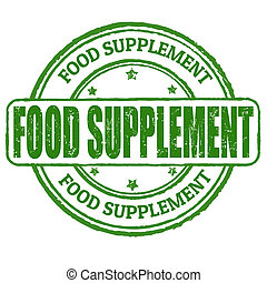 Food supplement stamp - Food supplement grunge rubber stamp...