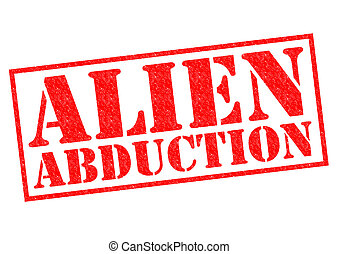 ALIEN ABDUCTION red Rubber Stamp over a white background