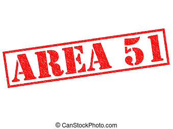 AREA 51 red Rubber Stamp over a white background.