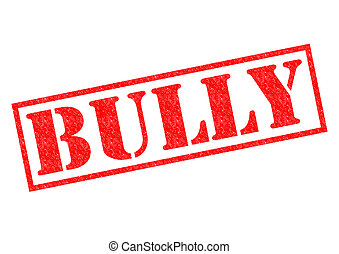 BULLY red Rubber Stamp over a white background.