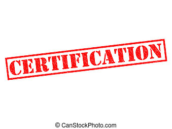 CERTIFICATION red Rubber Stamp over a white background