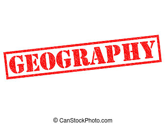 GEOGRAPHY red Rubber Stamp over a white background
