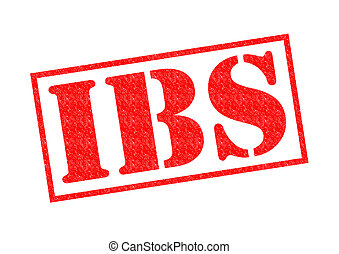 IBS Rubber Stamp - IBS (Irritable Bowel Syndrome) red Rubber...