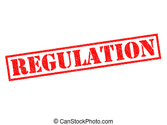 REGULATION red Rubber Stamp over a white background