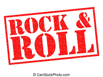 ROCK & ROLL red Rubber Stamp over a white background.