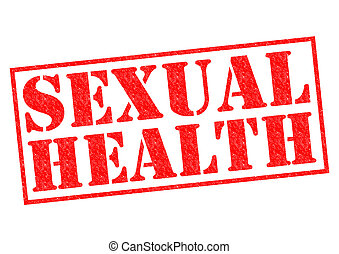 SEXUAL HEALTH red Rubber Stamp over a white background